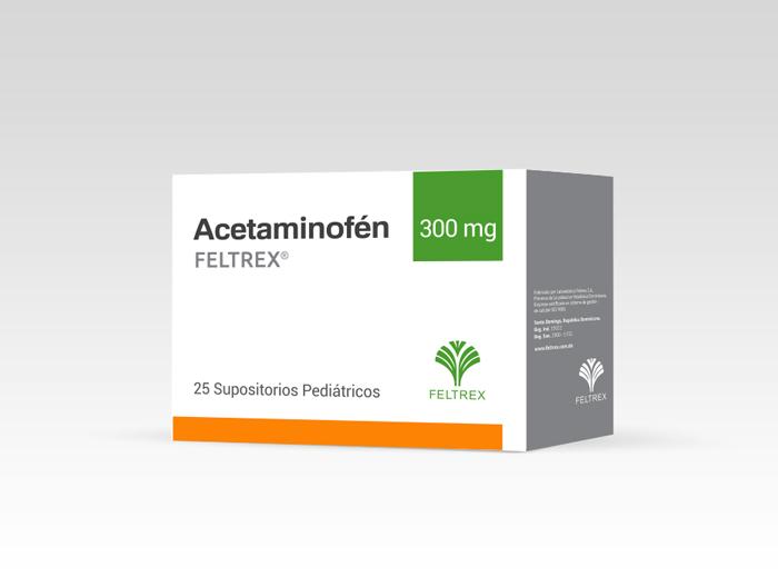 ACETAMINOFEN FELTREX SUPOSITORIOS 300MG